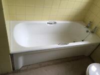 White enamel vintage bath