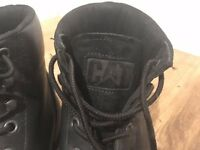 CAT black real leather boots - Size 11