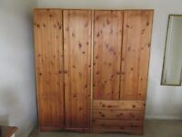 Two x Pine Wardrobes,