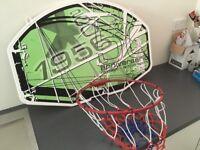 Wall mounted basketball hoop with backboard - vgc