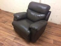 Leather recliner chair (free delivery)