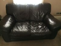 Two Seater Leather Sofa for free...
