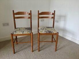 2 good quality pinewood chairs