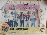 Case of 12 One Direction Art Canvas (6 designs x 2) 33cm x 46cm. Simply undercoat for artwork.
