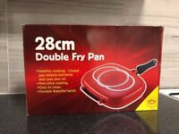 Double fry pan, 28cm - Brand New