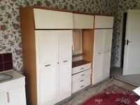 Free wardrobe, dressing table and drawer set