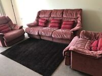 Sofa - Three seater and two armchairs with cushions- For Free!
