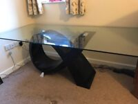 Bespoke Glass Dining Table