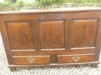 welsh oak coffer/mule chest