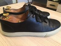 Luxurious Gucci Betis Calf mens black leather trainers, shoes 43 / uk9, rrp £410