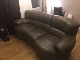 Leather Sofa and Rotating Chair