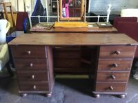 Pine stained desk / dressing table