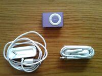 IPOD Shuffle Second Generation Purple