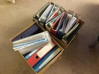 A4 Arch Lever folders with plastic inset sleeves