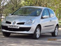 CLIO 1.1 2008 RIP CURL NEW MOT LIMITED EDITION LOW MILES CHEAP MOTORING