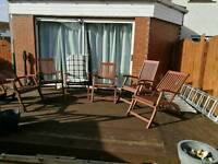 Reclining patio carver chairs
