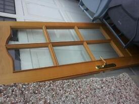 Internal door glazed real wood oak?