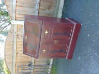 mahogany colour bureau / bedroom cabinet mini desk