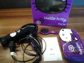 Hello Kitty hair dryer set