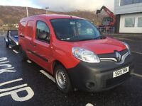 Renault Kangoo Crew Van, 5 seats, towbar fitted. 4 spare wheels with good winter tyres.