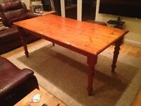 Large 8-Seater Solid Pine Dining/Kitchen Table