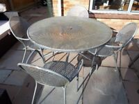 Free - Patio table and 4 chairs