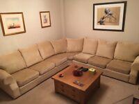 Corner sofa , beige, very comfy , 7 seats, excellent condition