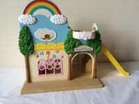Sylvanian Families - Rainbow Creche, Green car (sm1ley), Village Sweet Stall