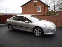 2006 peugeot 407 se{fpsh,full mot,parking sensors,63000 miles,finance,warranty ava}