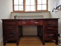 Mahogany pedestal desk, c. 1940