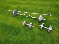 Barbell, curling bar, weights