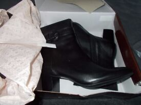 Ladies Designer Real Leather Ankle Boots Size 4 5 6 7 8 New RRP $ 99.00