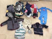 Large bundle of boys clothes 1-3 years