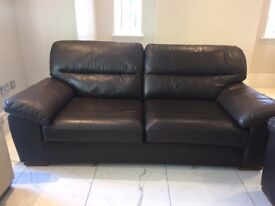 Marks & Spencer brown leather Sofas