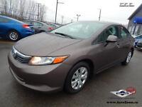 2012 Honda Civic Sdn LX * 26,58$/sem *