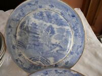 Blue Willow-plus blue and white cheese dish