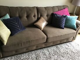 4 seater settee and chair
