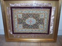 Hand Stiched Indian Embroidery Picture