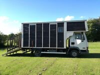 DAf 45-130-turbo horsebox 2/3 horses. Tilt cab. Plate to May 2018. Very low mileage. 75,000miles.