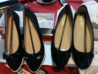 2 Pairs BRAND NEW black pumps UK size 4 (shoes)