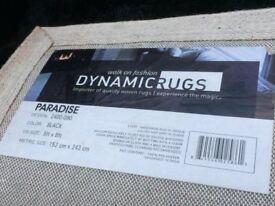 Black Shag Pile Rug