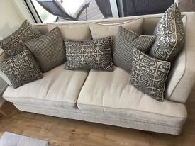 Any reasonable offers will be considered -'Biba 3 seater & 2 seater Sofas with low stall /table
