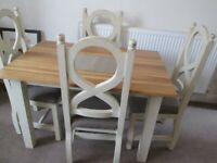 Dinning room table and chairs (chabby chic)