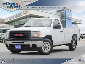 2012 GMC Sierra 1500 WT 1 OWNER, ACCIDENT FREE
