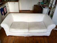 3 seater white sofa, NW6