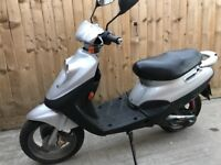 50cc 324 miles only scooter moped 2 stroke 12 months mot
