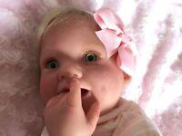 Brand new Baby Girl Reborn Doll Punkin by Donna RuBert.