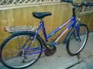 nice looking ladies bike with rear rack