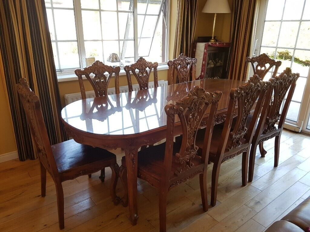 Astonishing Beautiful Mahogany Dining Table And 8 Chairs For Sale In Pomeroy County Tyrone Gumtree Download Free Architecture Designs Scobabritishbridgeorg