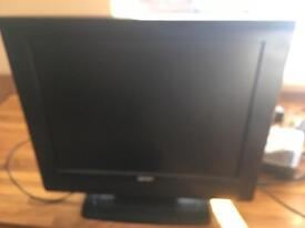 Small tv, free view box and booster aerial